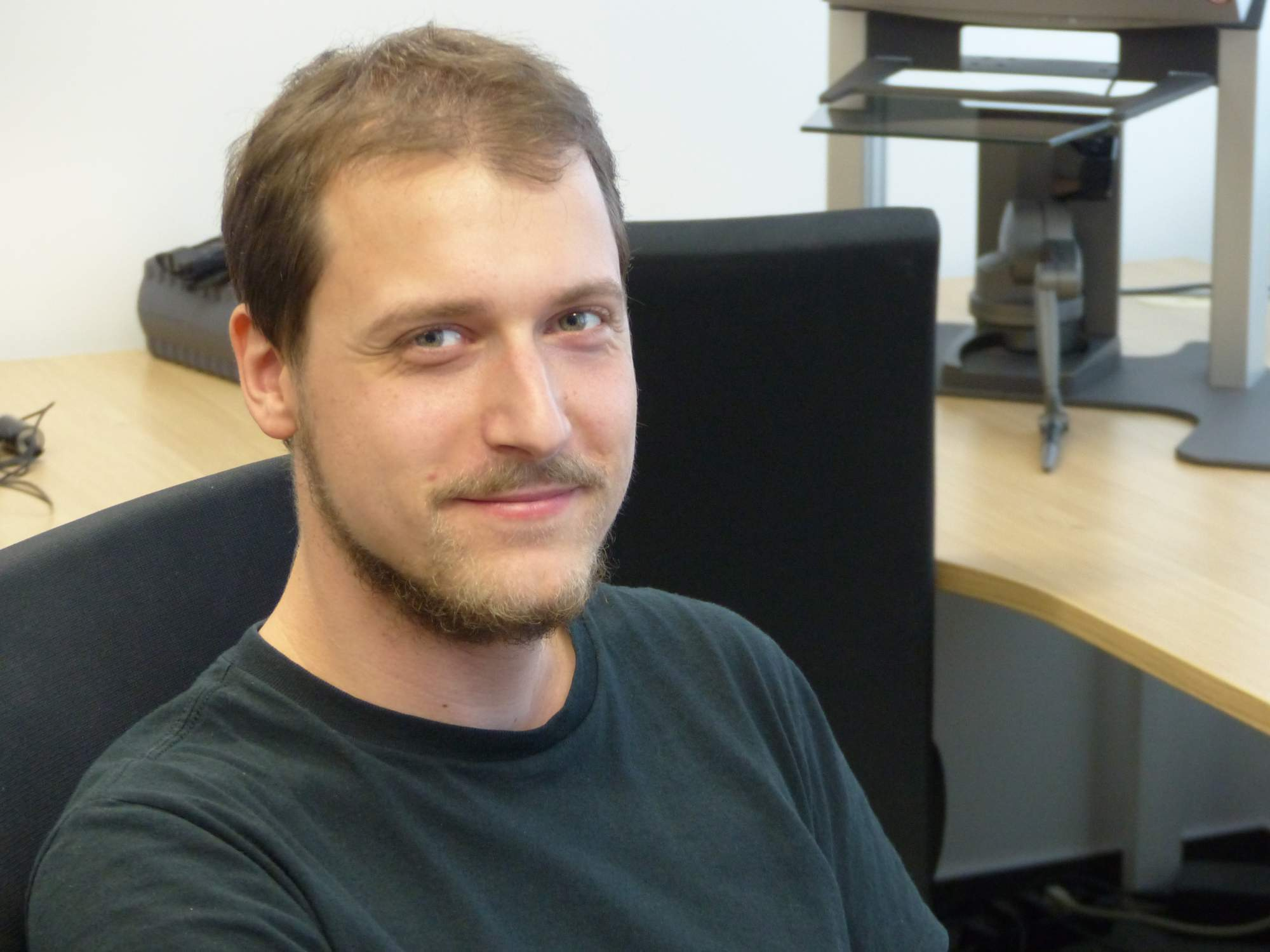 Filip Škola se zabývá propojením lidského mozku s počítačem; Autor: Richard Kuczinský