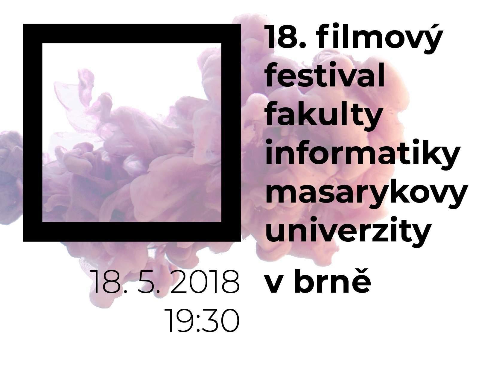 V pátek 18. května startuje 18. ročník filmového festivalu Fakulty informatiky