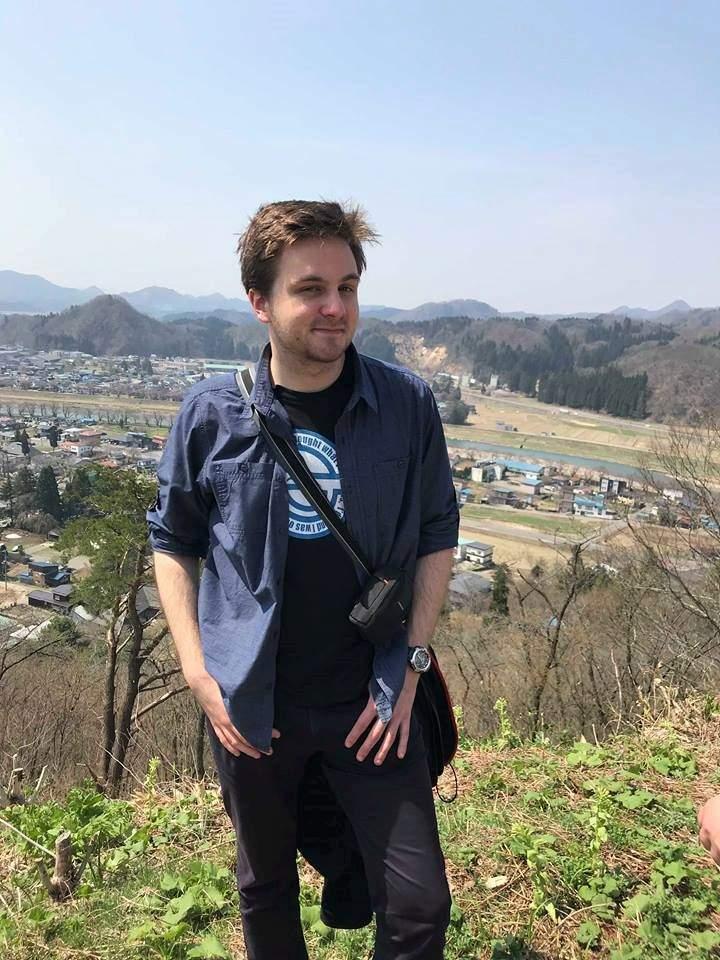 Daniel Greger na vyhlídce na město Kakunodate v prefektuře Akita. Foto: Archiv Daniela Gregera