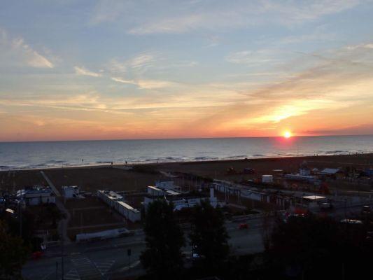 západ slunce nad Rimini
