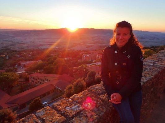 a západ slunce