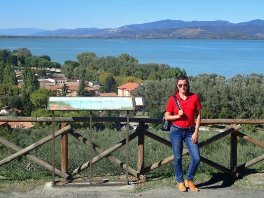 výhled na Lago Trasimento