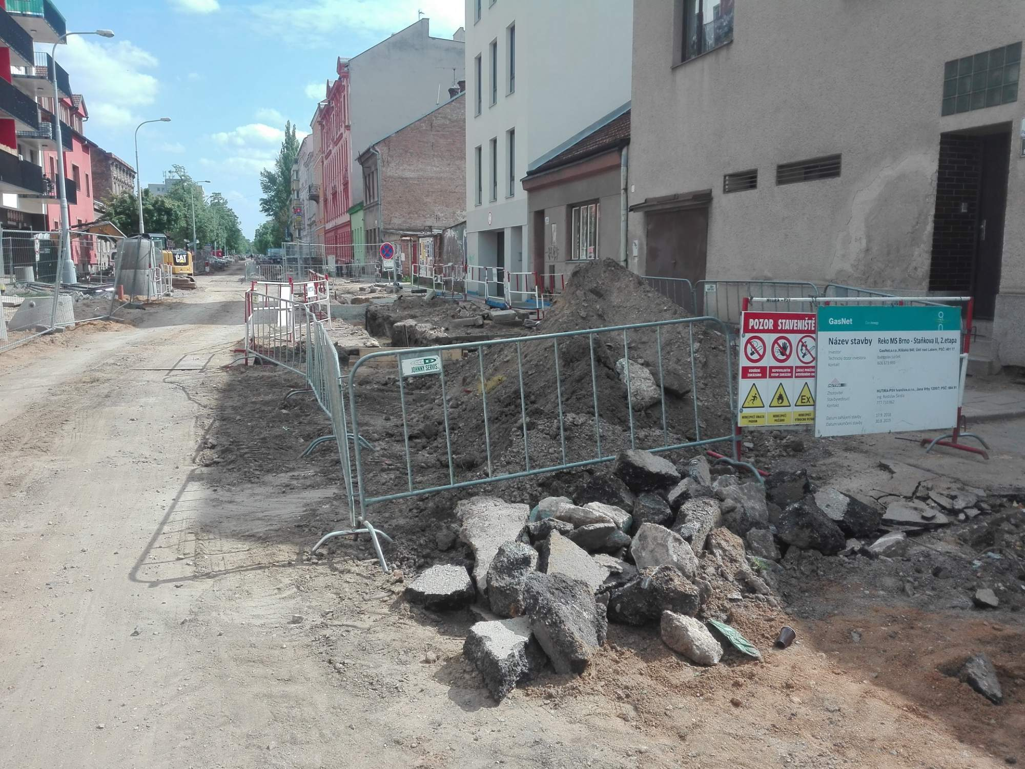 Současný stav ulice Poděbradova. Foto: Patrik Švec