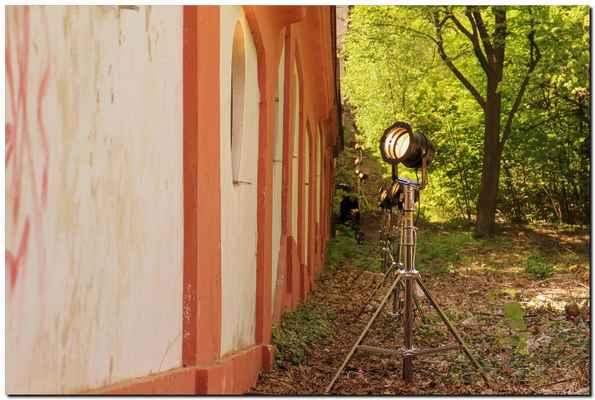 schody se pyšnily profesionálním nasvícením filmovými specialisty