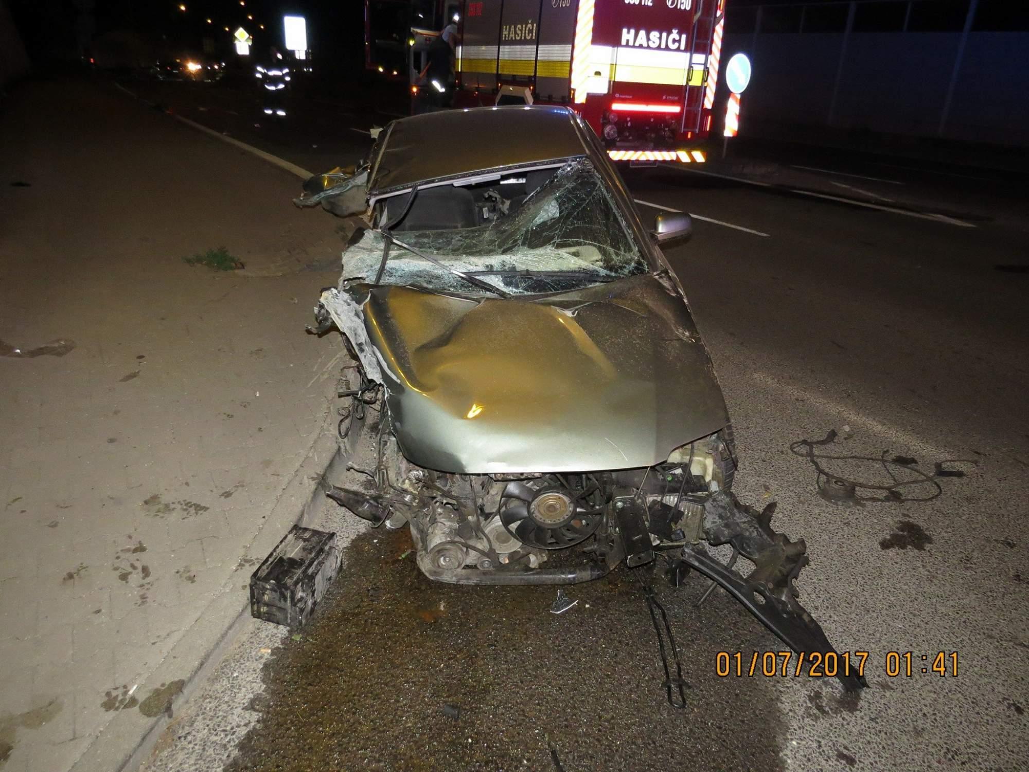 Auto, v ktorom sa viezol Samo s kamarátmi. Zdroj: Facebook Polície Slovenskej republiky