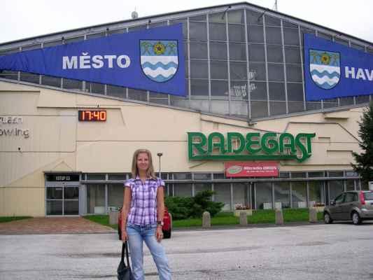 Pája a havířovský zimní stadion, postaven ve stylu BRUTALISMUS.