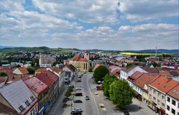 Masarykovo náměstí a kostel sv, Jakuba Staršího
