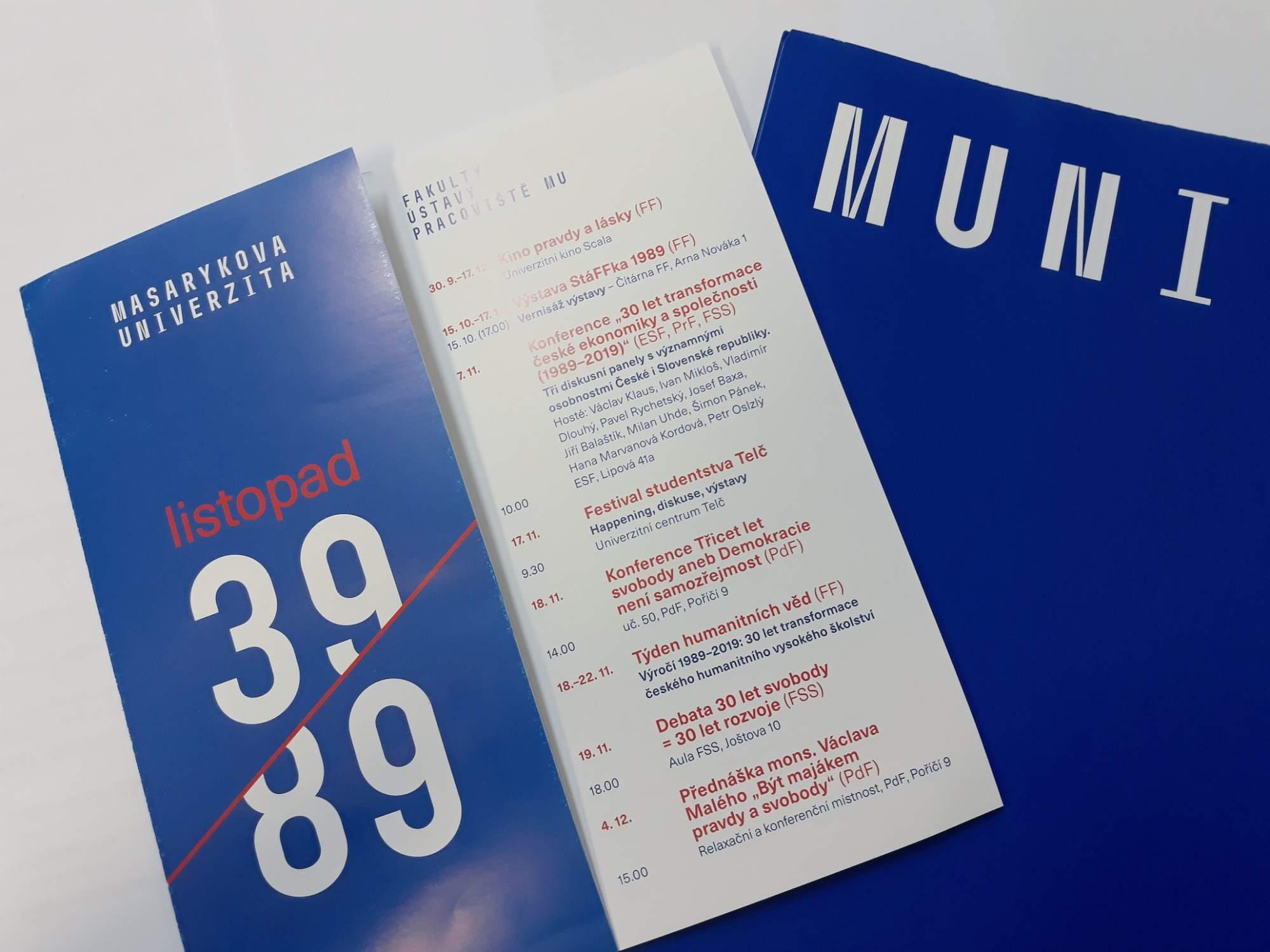 Masarykova univerzita si připomene výročí 17. listopadu. Foto: Miroslava Putzlacherová