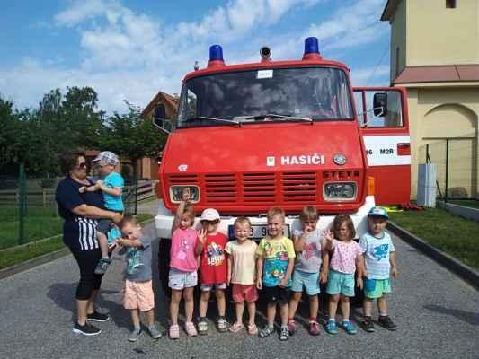 MŠ Mžany 2019/06 - Den s hasiči v MŠ