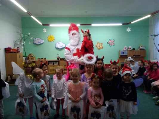 MŠ Mžany - 2019/12 - Mikuláš a čert v MŠ