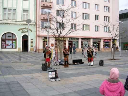 Na velkym rynku v Ostravě