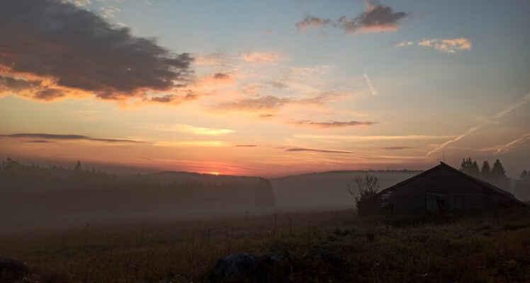 Knížecí Pláně 10. září Slunce za chvíli vyleze :)
