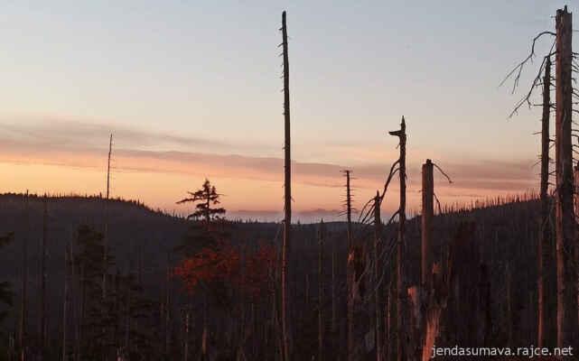 Totes Gebirge v ranním oparu ze Šumavy
