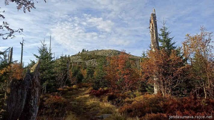 Podzimní Luzný (Lusen, 1373 m)