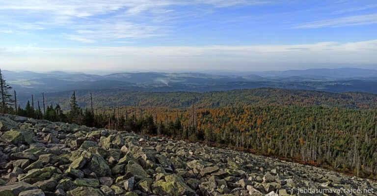 barvící se smíšené lesy na bavorské straně