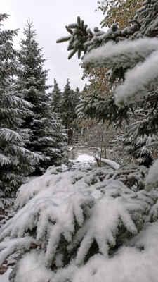 zimní atmosféra na vrcholové stezce