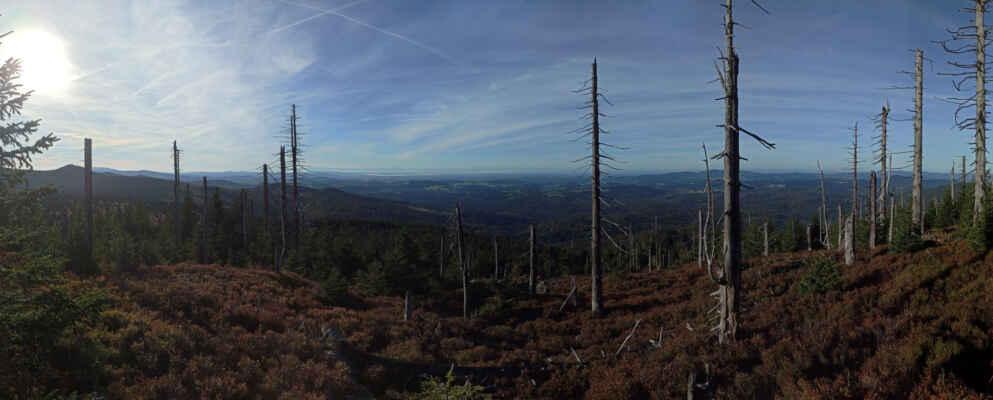 panorama vlevo s Luzným