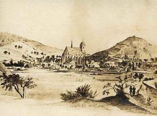 Doubravník - obraz Fr. Richtera z roku 1824