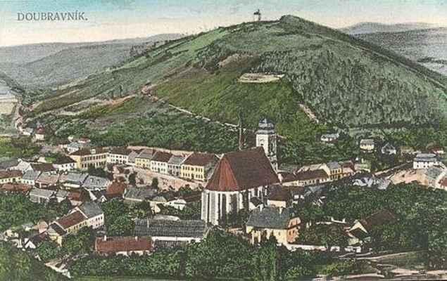 Pohled na Doubravník od severo-východu po roce 1903.