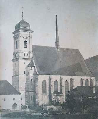 Kostel v Doubravníku před rokem 1869.