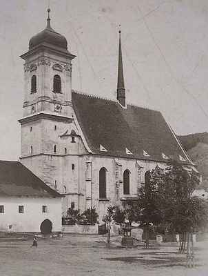 Kostel v Doubravníku koncem 19.stol.
