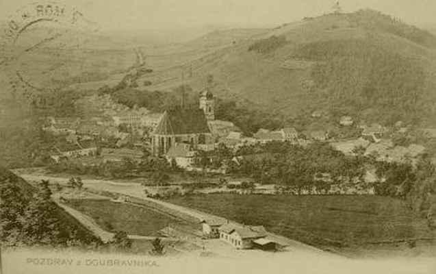 Doubravník - nádraží, 1917