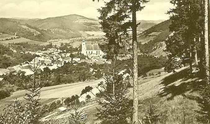 Doubravník - pohled z Pláňavy.