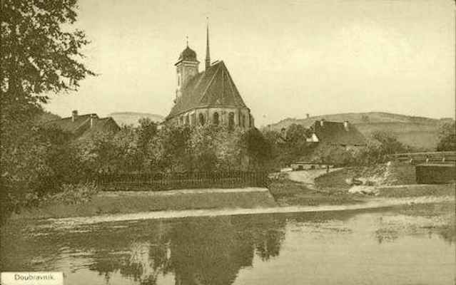 Doubravník - pohlednice z roku 1912.