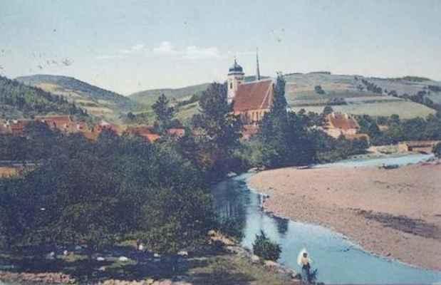 Doubravník - kolorovaná pohlednice.