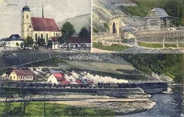 Doubravník - kolorovaná pohlednice z roku 1936.