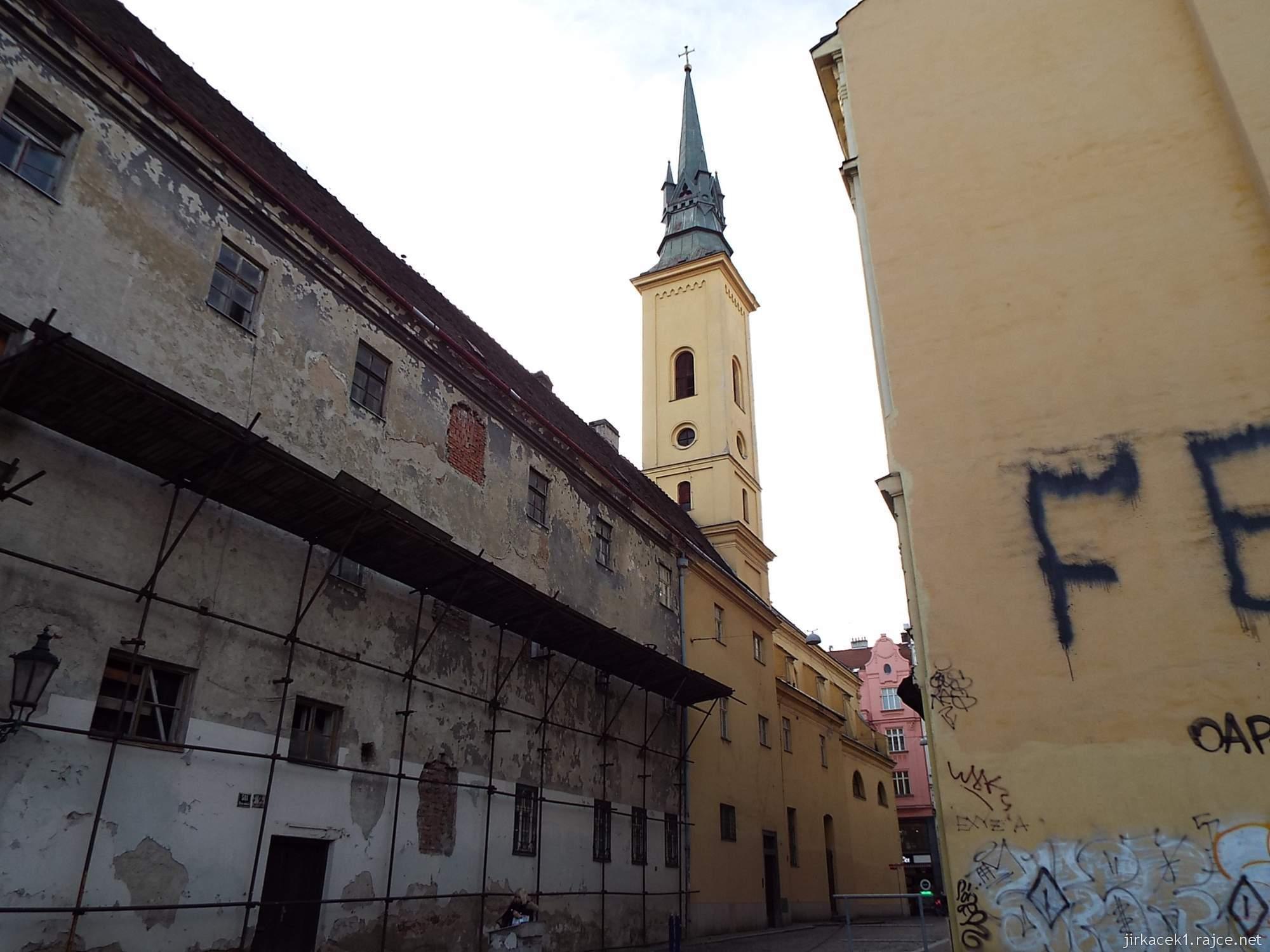 Brno - Kostel sv. Máří Magdalény - pohled z Františkánské ulice