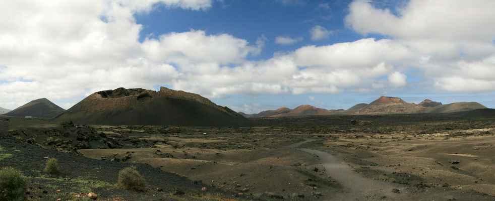 ...další známý kráter Montaň de las Lapas del Cuervo...