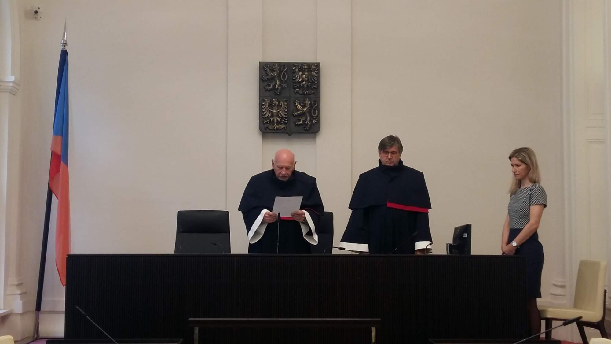 Ústavní soud vyhlásil nález ve středu 22. května.