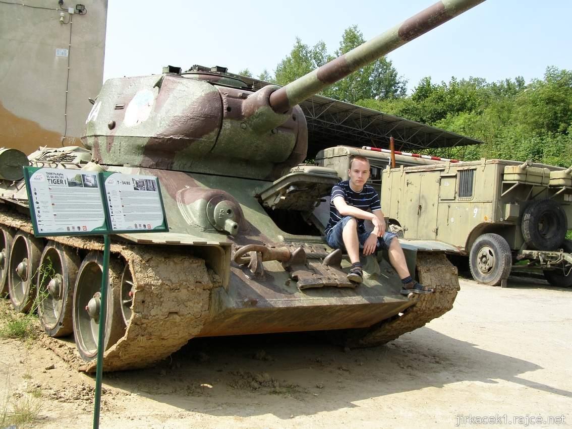 muzeum na demarkační linii Rokycany 02 - tank T-34 - 85