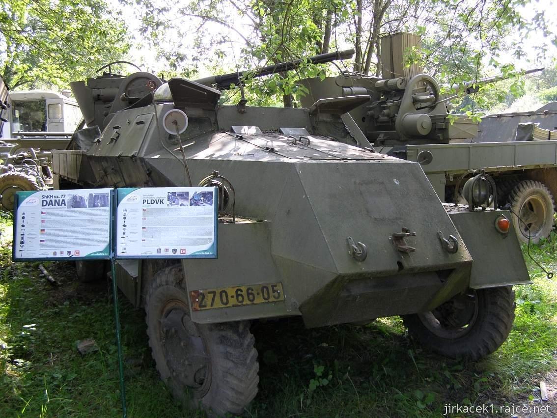 muzeum na demarkační linii Rokycany 27 - samohybný protiletadlový dvojkanon PLDVK