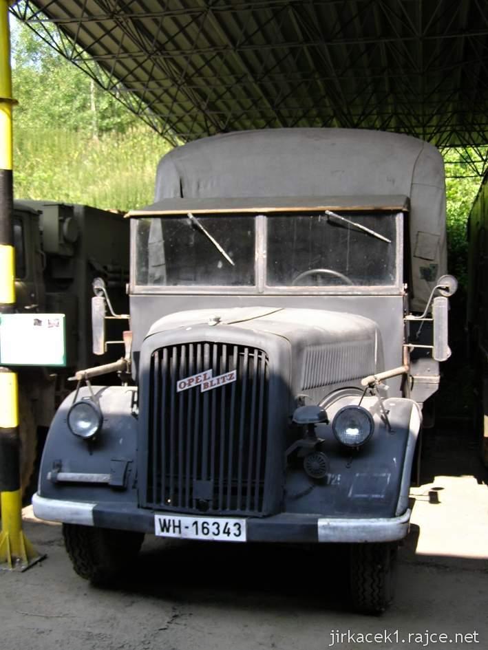 muzeum na demarkační linii Rokycany 37 - nákladní automobil OPEL BLITZ