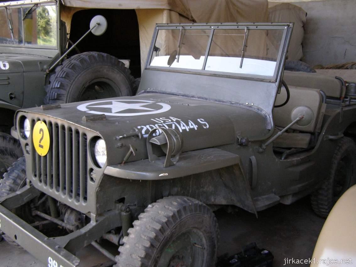 muzeum na demarkační linii Rokycany 45 - jeep WILLYS MB