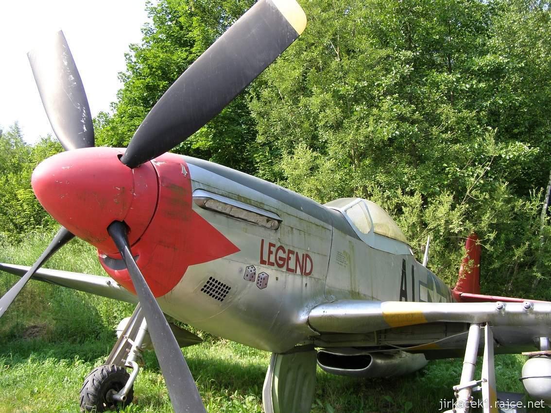 muzeum na demarkační linii Rokycany 48 - letoun Nord American P-51 D Mustang