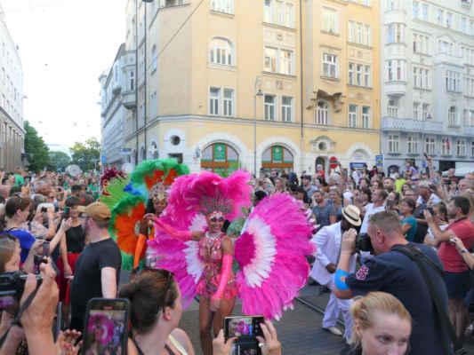... karnevalový průvod už má pár desítek metrů za sebou a ještě spoustu metrů před sebou a já se těším nejen na tanečnice ale především na úžasný bubnový doprovod ....