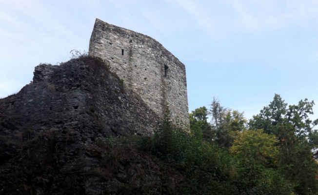 Český Šternberk - hladomorna - Hladomorna chránila hrad od jihu. Dnes je volně přístupná a je z ní zajímavý výhled do údolí Sázavy a částečně na hrad samotný.Předsunutá mohutná bašta byla vybudována Petrem Holickým ze Šternberga na přelomu 15. a 16. století